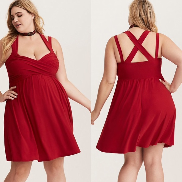 1dc27e8079 NWT Torrid Crisscross Babydoll Dress